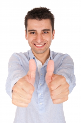 Thumbs up man - picture